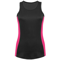 Ladies Racer Back Style Contrast Vest - Performance Fabric