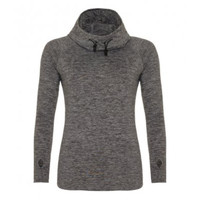 Ladies Cowl Neck Fitted Hoodie