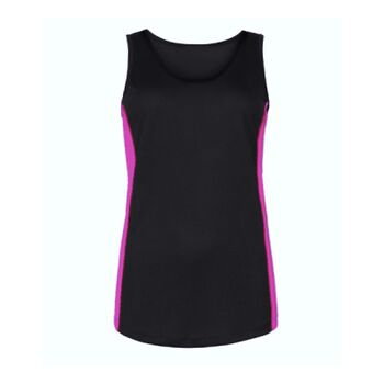 Ladies Racer Back Style Contrast Vest - Performance Fabric Thumbnail