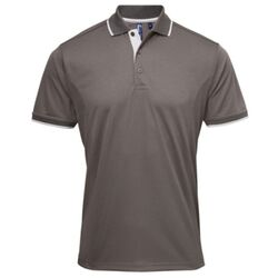 Contrast Neck and Collar Polo Shirt - Performance Fabric Thumbnail